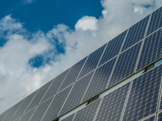 Photovoltaic System, solar panels - Stock Image