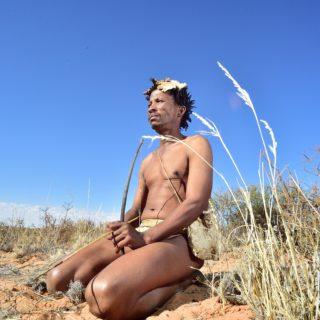 N Cape  Kalahari  Khomani San Bushman  Arri Raats  Boesmansrus Camp